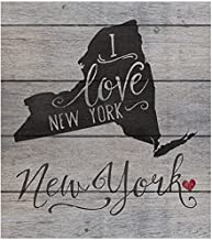 """Kindred Hearts 12""""x13.5"""" New York State Slogan Pallet Board Wall Art"""