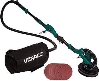 VONROC Lijadora telescópica para paredes y techos 1050W - 225mm - Ideal para lijar techos y paredes