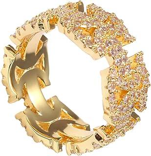 Holibanna Anello di Barretta Dito Indice Anello Decorativo Unico Hip Pop Punk Anello di Barretta Ornamento d'oro