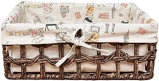 O&YQ Sac de Rangement/Paniers de Ménage , Panier de Rangement en Rotin Boîte à Déchets de Cuisine Stockage Snack Panier de...
