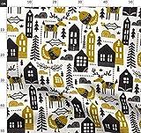 Skandinavisch, Weihnachten, Jahreszeiten, Winter, Häuser