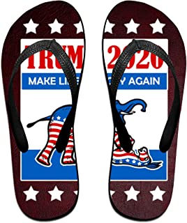 AA+ME Trump 2020 Make Liberals Cry Again Comfortable Men Women Summer Beach Sandals Shower Flip-Flops Slippers