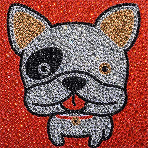 5D Diamond Painting Kits for Kids Full Drill Painting by Number Kits for Children Rhinestone Diamond Embroidery Home Wall Decor (Bulldog)