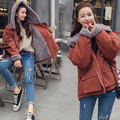 XuankuVêtements en Coton d'hiver Femelle BF Et Plumes Moelleux Manteau en Coton épais Manteau Vêtements en Coton Moelleux.
