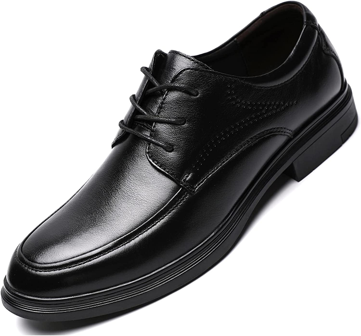 Men's Oxford Leather Shoes Lace-up Shoes Breathable Commuting Business Casual Dress Shoes