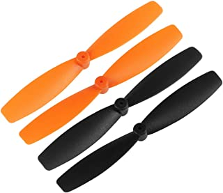 uxcell RC Propellers 55mm CW CCW 2-Vane Main Rotors for Walkera QR Ladybird Quadcopter, Black Orange 2 Pairs