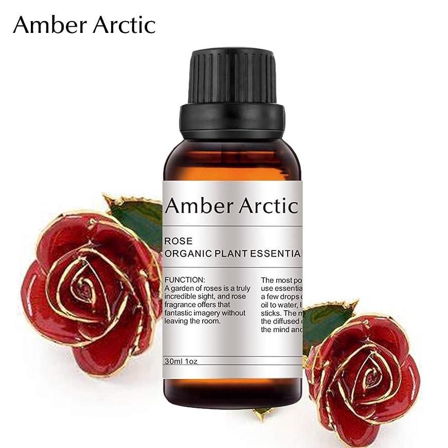 深遠タッチ著名なAMBER ARCTIC エッセンシャル オイル ディフューザー 用 100% 純粋 新鮮 有機 植物 セラピー オイル 30Ml ローズ ローズ