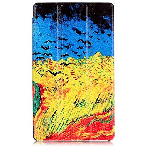 LG G Pad 3 8.0 V525 Funda. MOONBAY MALL Protección Completa, Fold PU del Soporte de Imitación de Cuero de la Cubierta Protectora con Estela y la Función del Sueño. KST-15