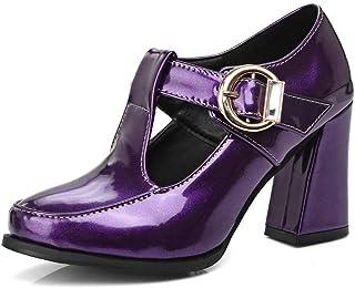 BalaMasa Womens APL12004 Pu Block Heels
