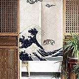 Cortina divisoria, medias cortinas impermeables resistentes al desgaste, cortina de estilo japonés, cortina, para tiendas, hogar, restaurantes, oficina