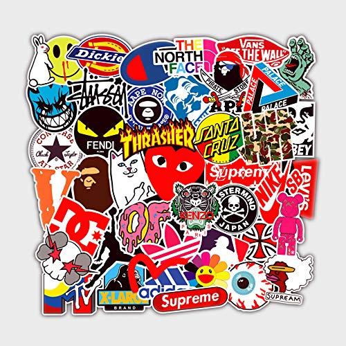 hxx Trend Aufkleber Decals (101 Stück), Supreme Laptop Vinyl Aufkleber für Wasserflasche, Trinkflasche, Snowboard, Gepäck, Motorrad, iPhone,Wand, DIY Party Supplies Patches Graffiti Decal