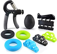 FLY2SKY Forearm Grip Hand Grip Strengthener 9 PCS Adjustable Hand Gripper Finger Stretcher Hand Strengtheners Finger Exerciser Grip Strength Ring Stress Relief Ball Christmas Stocking