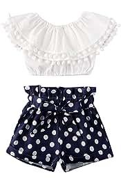 Pagliaccetto Completo Estivo per neonata e Bambina DaMohony Motivo Floreale Pantaloncini per Bambini da 0 a 24 Mesi