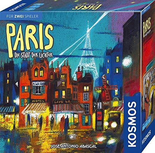 KOSMOS 680442 Paris - Die Stadt der Lichter, Das Duell um die besten Bauplätze, Strategiespiel für 2 Spieler, mit einfachen Regeln, Spiel-Spaß ab 10 Jahre