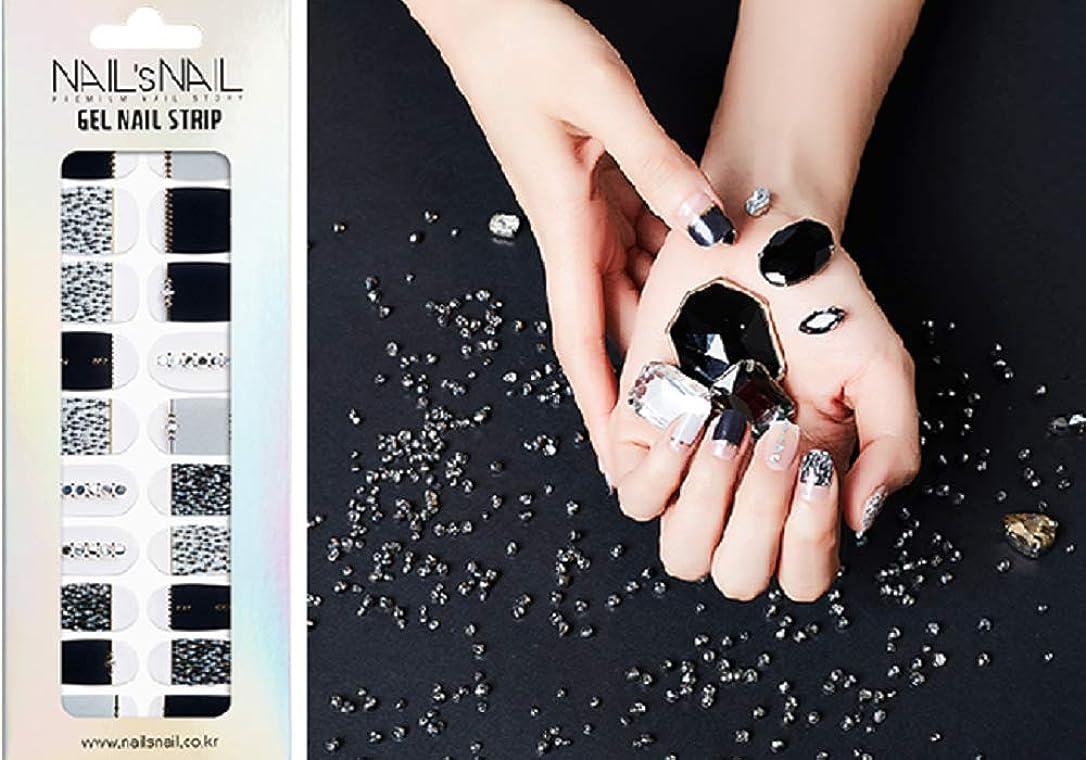 寛大さフェロー諸島インペリアル\貼るジェルネイル/Nail's Nail(ネイルスネイル) ジェルネイルストリップ 107