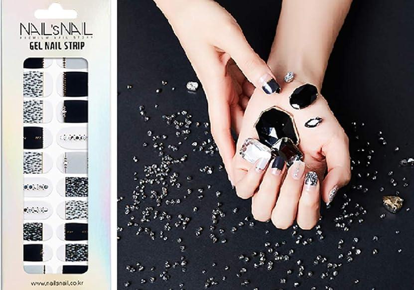 試み煩わしい持続的\貼るジェルネイル/Nail's Nail(ネイルスネイル) ジェルネイルストリップ 107