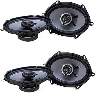 Crunch 250W Full Range 2 Way Coaxial Car Audio 5x7 by 6x8 Speaker Pair (2 Pack) photo
