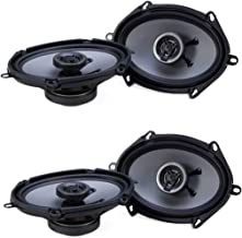 $40 » Crunch 250W Full Range 2 Way Coaxial Car Audio 5x7 by 6x8 Speaker Pair (2 Pack)