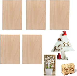 5 Pieces 1.5 mm 1/16 x 8 x 12 Inch Rectangle Unfinished Basswood Wooden Sheets, Pack of 5 Thin Plywood for DIY Craft Hand-...