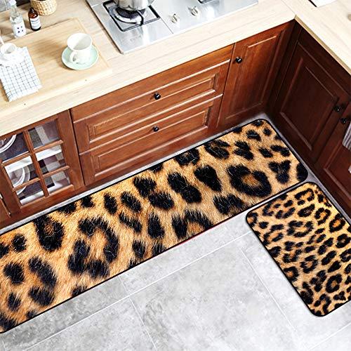 Anti-Slip Moderne Küche Teppich,Sexy Leopard Gestreifte Teppich Küchen Matte Rechteck Mikrofaser...