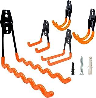 MUMUKE 5pack Garage Hooks Heavy Duty Storage Wall Mount Garage Organizer Rust-Resistant Utility Hangers for Ladders, Bikes...