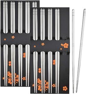 10膳セット 箸 cnomg ステンレス箸 四角 キッチン用品 調理器具 すべり止め 食器 22.5センチ 厚さ6MM