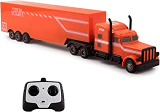 "Vokodo Large RC Toy Semi Truck Trailer 18"" 2.4Ghz Fast Speed 1:20 Scale Electric Hauler Rechargeable Remote Control Kids Big Rig Carrier Van Transporter Vehicle Full Cargo Perfect Children's Toy Gift"