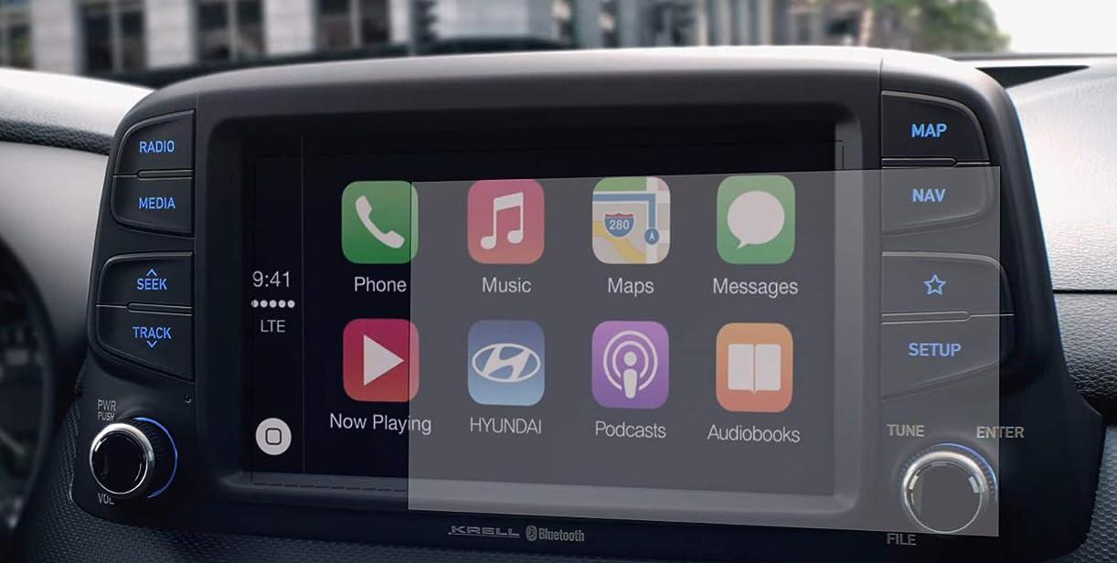 大脳関連付ける偉業PcProfessional スクリーンプロテクター (2枚セット) 2018 2019 Hyundai Sonata Ioniq Elantra Elantra GT Veloster 7インチ情報タッチスクリーンディスプレイ 高精細 傷防止フィルター UV用