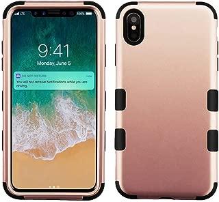 Mybat Apple-iPhone Xs Max Rose Gold/Black TUFF Hybrid Phone Protector Cover [Military-Grade Certified] (Renewed)