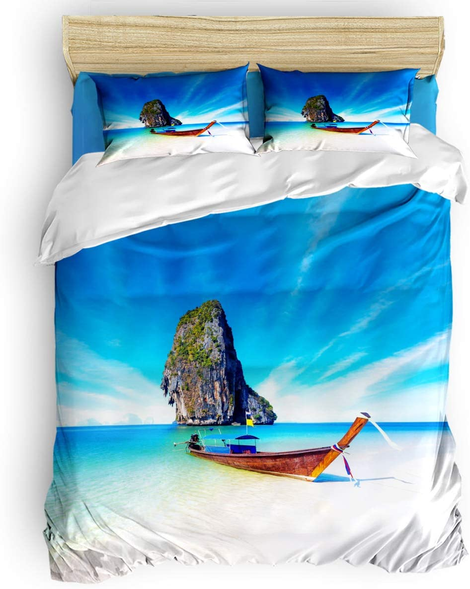 Fixed price for sale Comforter Cover Set New life Full Landscape Beautiful Tro Duvet