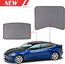 Auto Rover Model 3 Glass Roof Sunshade Sunroof Rear Window Sunshade Compatible for Tesla Model 3 (2 of Set) (top roof+ Rear),ODM