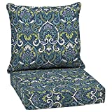 Arden Selections Sapphire Aurora Damask 2-Piece Deep Seating Outdoor Lounge Chair Cushion