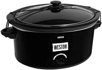 Weston Slow Cooker 5 qt. with Lid Latch Strap 03-2100-W