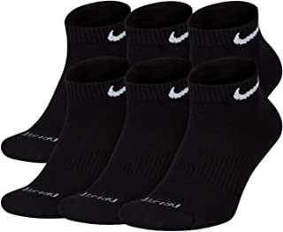 NIKE Plus Cushion Socks (6-Pair) (M (Men's 6-8 / Women's 6-10),  Low (Sport Cut) Black)