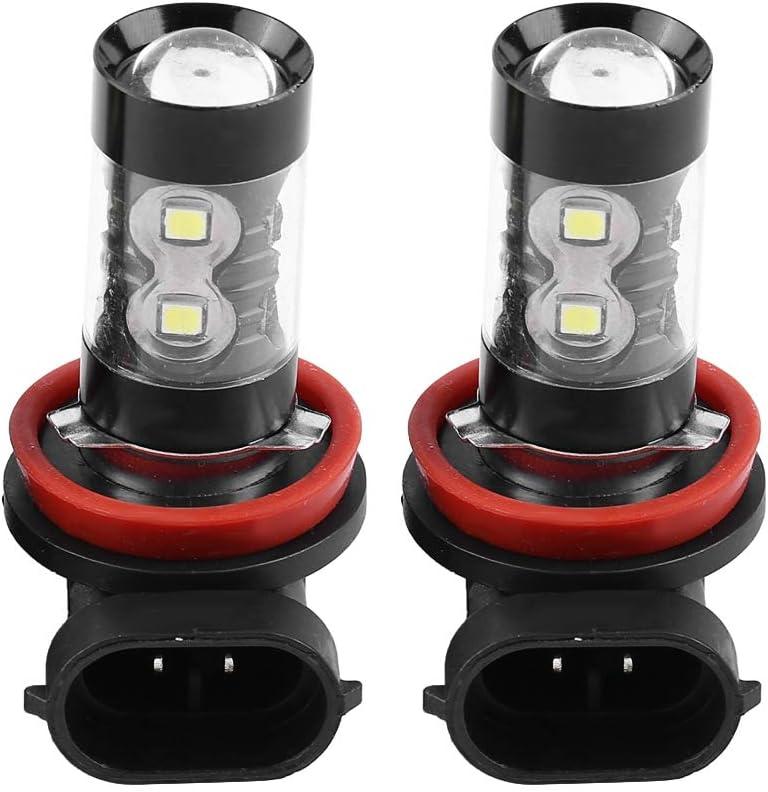 Bombillas de luz antiniebla de coche, 2 piezas H8 H11 12V-24V 50W Bombilla de luz diurna LED brillante de alta potencia para faros antiniebla de automóvil Luz de conducción diurna
