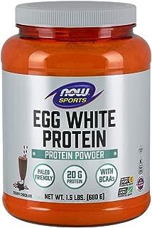Now Sports Nutrition, Egg White Protein, Creamy Chocolate Powder, 1.5-Pound