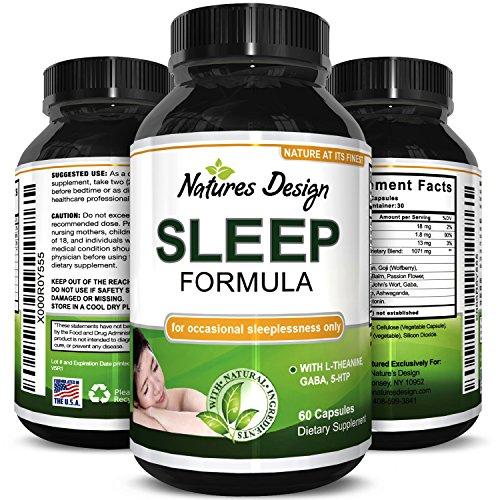 Natures Craft's Natural Sleep Aid Pills the Best Herbal Sleeping Formula with Melatonin, GABA,...