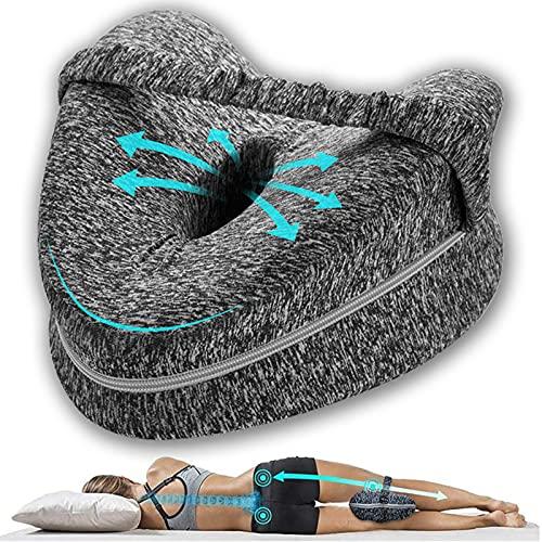 Cojin para Dormir Entre Las Piernas - Sueño Confortable Almohadas Ortopédicas para Las Rodillas Comfy Pillow Entre Las Piernas de Lado Espuma Memoria Ergonómico Almohada Ciática Correctora Posicion