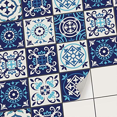 creatisto Fliesenaufkleber Fliesenfolie Mosaikfliesen - Selbstklebende Fliesen Folie I Klebefliesen Deko Folien für Fliesen in Küche u. Bad/Badezimmer (15x15 cm I 9 -Teilig)