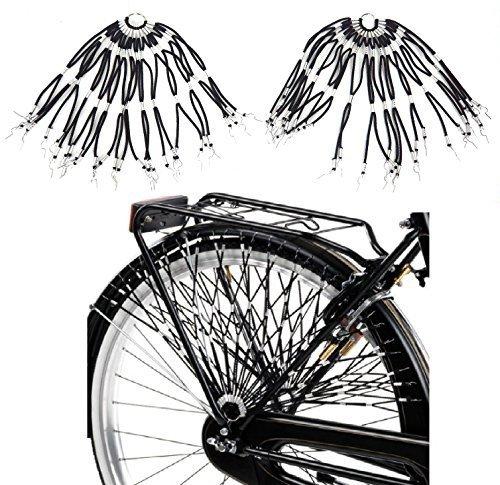 Retina/Paraveste Elastica per Bicicletta (Coppia) - Scegli Il Colore (Nero)