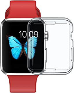 UEETEK 38mm Clear Watch Protective Cover Soft PU Protector Bumper Case Cap for iWatch 2/ iWatch 3
