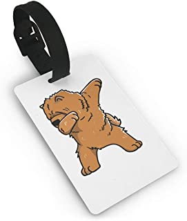 BJtiananmen Swag Chow Chow Dog Luggage Tag Initial Bag Tag Etag Holders PVC Luggage Tag