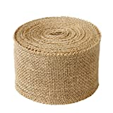 LaRibbons 3' Wide Burlap Fabric Craft Ribbon 10 Yards, 01 Tan