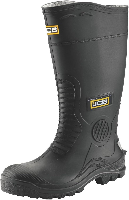 JCB Hydromaster Safety Wellington Boots Black Size 11