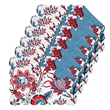 Adrienne 13x19 Quilted Rectangular Placemat Set of 6
