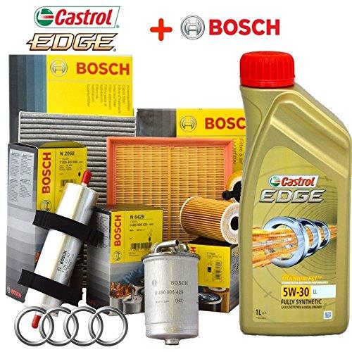 Kit tagliando olio CASTROL EDGE 5W30 5LT + 4 FILTRI BOSCH