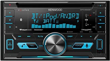 Kenwood DPX592BT Double-DIN In-Dash Car Stereo with High Resolution Audio Compatibility/