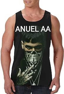MaMing Anuel-AA Man's Men's Summer Trend Print Short Sleeve