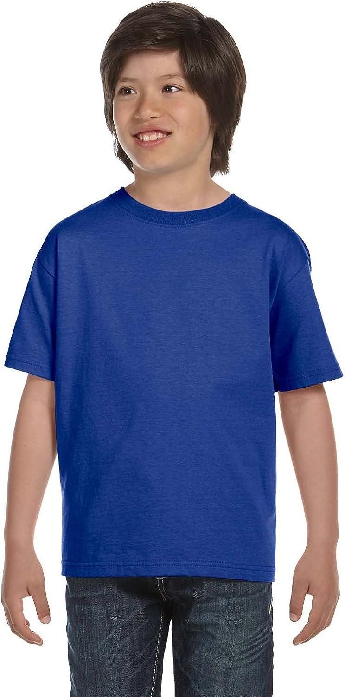 Hanes Youth 52 oz ComfortSoft Cotton T-Shirt - DEEP ROYAL - M - (Style # 5480 - Original Label)