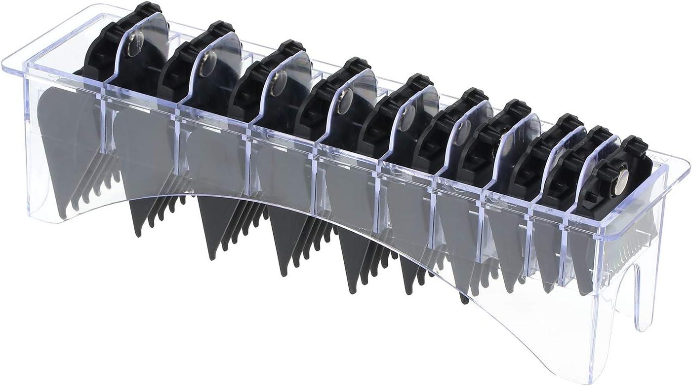 zroven - Cortapelos eléctrico con guía, 10 unidades, con absorción magnética, para maquinilla de afeitar eléctrica, accesorio para cortar el pelo, color negro